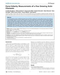 Plos Biology : Force-velocity Measuremen... by Spudich, James A.