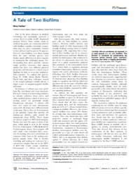 Plos Biology : a Tale of Two Biofilms, V... by Public Library of Science (Plos)