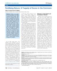 Plos Biology : Fertilizing Nature ; a Tr... by Beatty, Perrin H.
