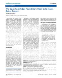 Plos Biology : the Open Knowledge Founda... by Public Library of Science (Plos)