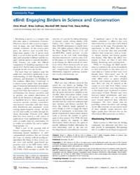 Plos Biology : Ebird ; Engaging Birders ... by Sullivan, Brian