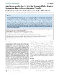 Plos Biology : Mechanotransduction in Vi... by Brugge, Joan Siefert