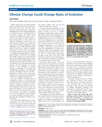 Plos Biology : Climate Change Could Chan... by Public Library of Science (Plos)