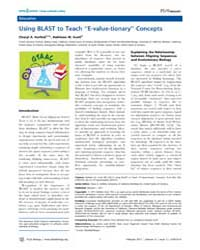 Plos Biology : Using Blast to Teach ''e-... by Public Library of Science (Plos)