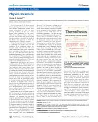Plos Biology : Physics Incarnate, Volume... by Public Library of Science (Plos)