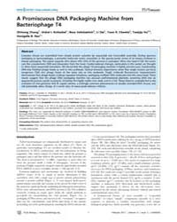 Plos Biology : Apromiscuous Dna Packagin... by Hughson, Fred