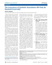 Plos Biology : the Importance of Synthet... by Public Library of Science (Plos)