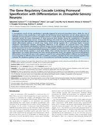 Plos Biology : the Gene Regulatory Casca... by Public Library of Science (Plos)