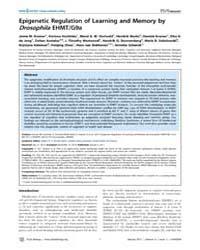 Plos Biology : Epigenetic Regulation of ... by Public Library of Science (Plos)
