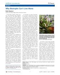Plos Biology : Why Biotrophs Can't Live ... by Public Library of Science (Plos)