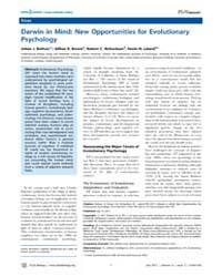 Plos Biology : Darwin in Mind ; New Oppo... by Brown, Gillian R.