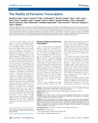 Plos Biology : the Reality of Pervasive ... by Eisen, Michael B.