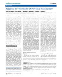 Plos Biology : Response to ''the Reality... by Eisen, Michael B.