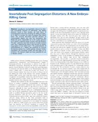 Plos Biology : Invertebrate Post-segrega... by Public Library of Science (Plos)