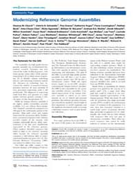 Plos Biology : Modernizing Reference Gen... by Schneider, Valerie A.