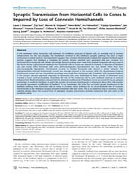 Plos Biology : Synaptic Transmission fro... by Wong, Rachel O. L.
