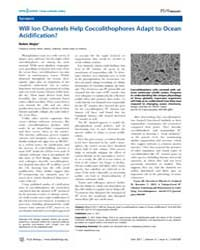 Plos Biology : will Ion Channels Help Co... by Public Library of Science (Plos)