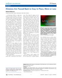 Plos Biology : Histones Are Passed Back ... by Public Library of Science (Plos)