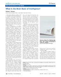 Plos Biology : What is the Brain Basis o... by Public Library of Science (Plos)