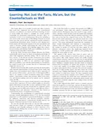 Plos Biology : Learning ; Not Just the F... by Hayden, Ben