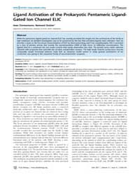 Plos Biology : Ligand Activation of the ... by Clapham, David E.