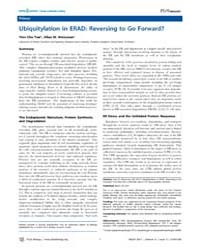 Plos Biology : Ubiquitylation in Erad ; ... by M. Weissman, Allan