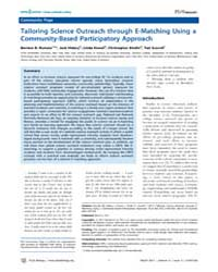 Plos Biology : Tailoring Science Outreac... by Hidary, Jack