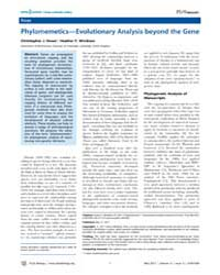 Plos Biology : Phylomemetics—evolutionar... by Windram, Heather F.