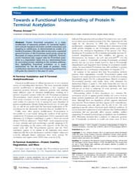 Plos Biology : Towards a Functional Unde... by Public Library of Science (Plos)