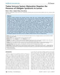 Plos Biology : Tsetse Immune System Matu... by S. Schneider, David