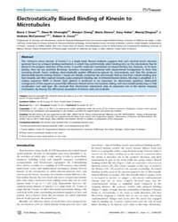 Plos Biology : Electrostatically Biased ... by Scholey, Jon M.