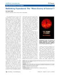 Plos Biology : Rethinking Feyerabend ; t... by Public Library of Science (Plos)