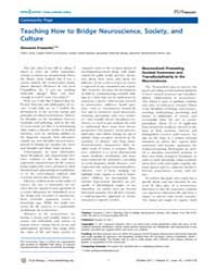 Plos Biology : Teaching How to Bridge Ne... by Public Library of Science (Plos)