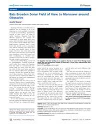 Plos Biology : Bats Broaden Sonar Field ... by Public Library of Science (Plos)