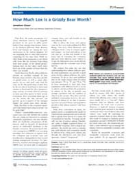 Plos Biology : How Much Lox is a Grizzly... by Public Library of Science (Plos)