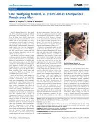 Plos Biology : Emil Wolfgang Menzel, Jr.... by Caplan, Arthur