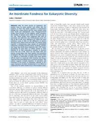Plos Biology : an Inordinate Fondness fo... by Washburn, David A.