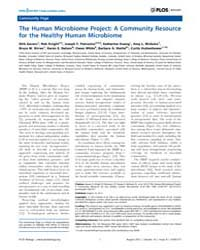 Plos Biology : the Human Microbiome Proj... by Public Library of Science (Plos)