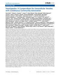 Plos Biology : Vesiclepedia ; a Compendi... by Kelly, Jeffery W.