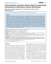 Plos Biology : Order–disorder Transition... by Dutzler, Raimund