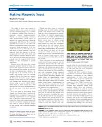 Plos Biology : Making Magnetic Yeast, Vo... by Public Library of Science (Plos)