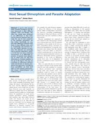 Plos Biology : Host Sexual Dimorphism an... by Ebert, Dieter