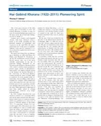 Plos Biology : Har Gobind Khorana 1922–2... by Public Library of Science (Plos)