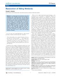 Plos Biology : Restoration of Ailing Wet... by Loreau, Michel