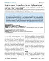 Plos Biology : Reconstructing Speech fro... by Zatorre, Robert