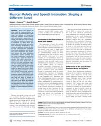 Plos Biology : Musical Melody and Speech... by Public Library of Science (Plos)