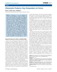 Plos Biology : Chromatin Proteins ; Key ... by Kerfeld, Cheryl A.