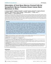 Plos Biology : Stimulation of Host Bone ... by Ashe, James