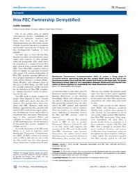 Plos Biology : Hox-pbc Partnership Demys... by Public Library of Science (Plos)