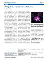 Plos Biology : Wiring up the Newest Part... by Public Library of Science (Plos)